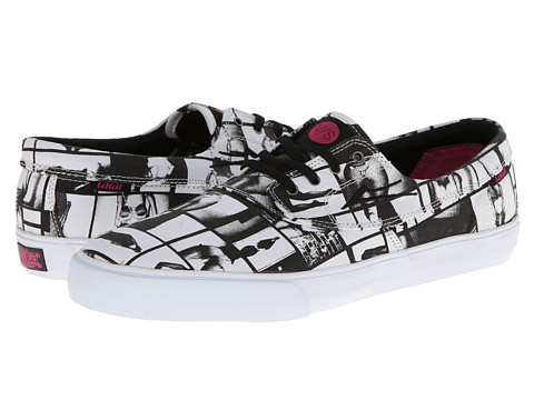 Lakai - Camby (Van Styles) (Black/White Canvas) Men