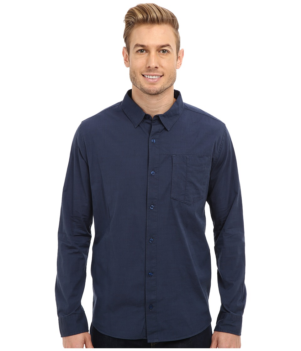 Toad&Co - Byway Shirt (Deep Blue) Men's Long Sleeve Button Up