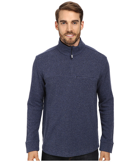 Toad&Co - Nightwatch 1/4 Zip (Blue Steel/Charcoal Heather) Men's Long Sleeve Pullover