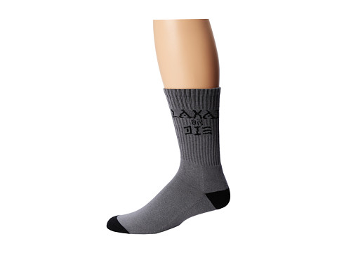 Lakai - Tribute Socks (Single Pair) (Charcoal) Men's Crew Cut Socks Shoes