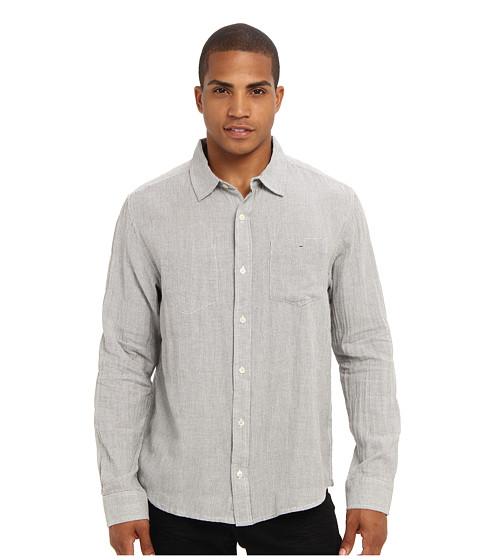 Toad&Co - Mixologist Neat Long Sleeve Shirt (Egret) Men