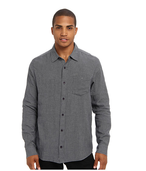 Toad&Co - Mixologist Neat Long Sleeve Shirt (After Midnight) Men's Long Sleeve Button Up