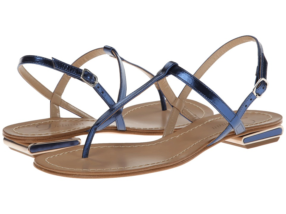Delman - Cate (Blue Mirror Metallic) Women's Sandals