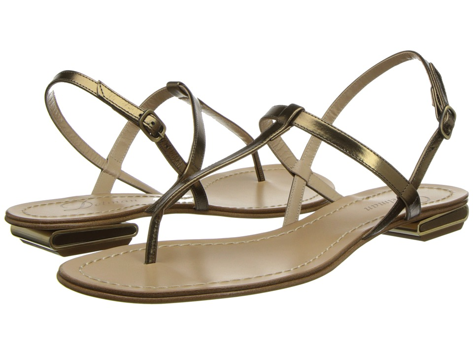 Delman - Cate (Bronze Mirror Metallic) Women's Sandals