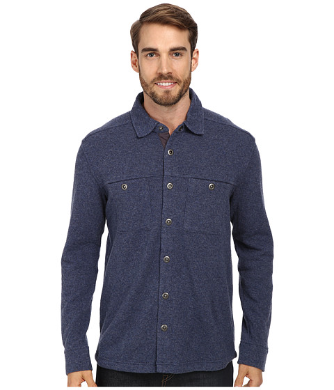 Toad&Co - Sidecar Overshirt (Blue Steel/Charcoal Heather) Men's Long Sleeve Button Up