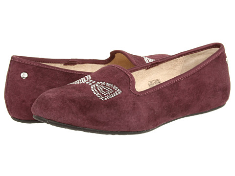 UGG - Alloway Crystal Bow (Port) Women's Shoes