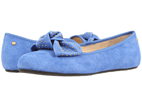 UGG - Alloway Studded Bow (Smooth Blue) Women's Slip on Shoes