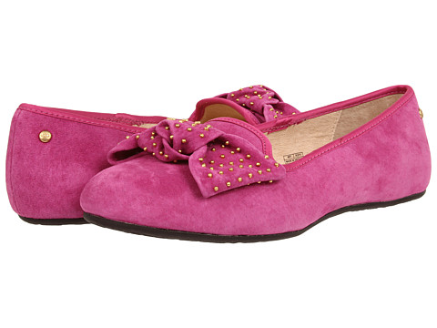 UGG - Alloway Studded Bow (Victorian Pink) Women's Slip on Shoes