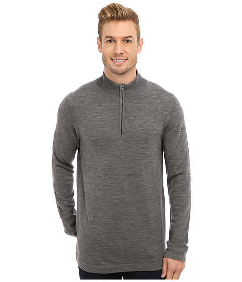Toad&Co - Rasmus Merino 1/4 Zip (Dark Smoke/Dark Slate) Men