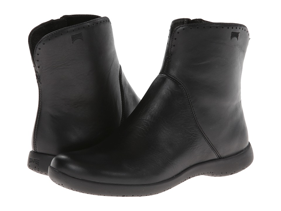 Camper - Spiral Comet - 46298 (Black) Women's Zip Boots