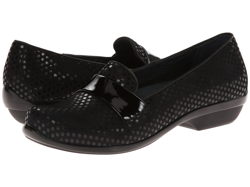 Dansko - Oksana (Black Polka Dot) Women's Slip on Shoes
