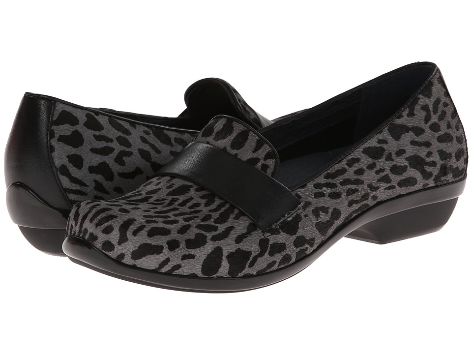 Dansko - Oksana (Grey Cheetah Hair Calf) Women's Clog Shoes