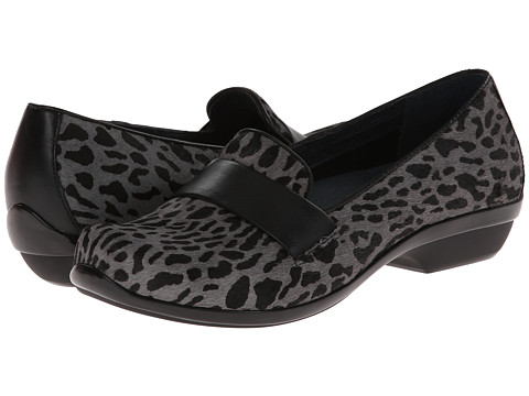 Dansko - Oksana (Grey Cheetah Hair Calf) Women's Slip on Shoes