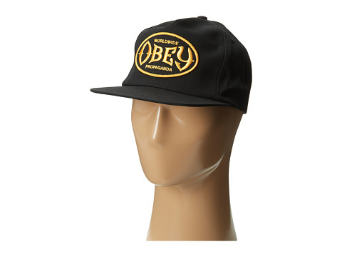 Obey Olympus Snapback Hat (Black) Caps