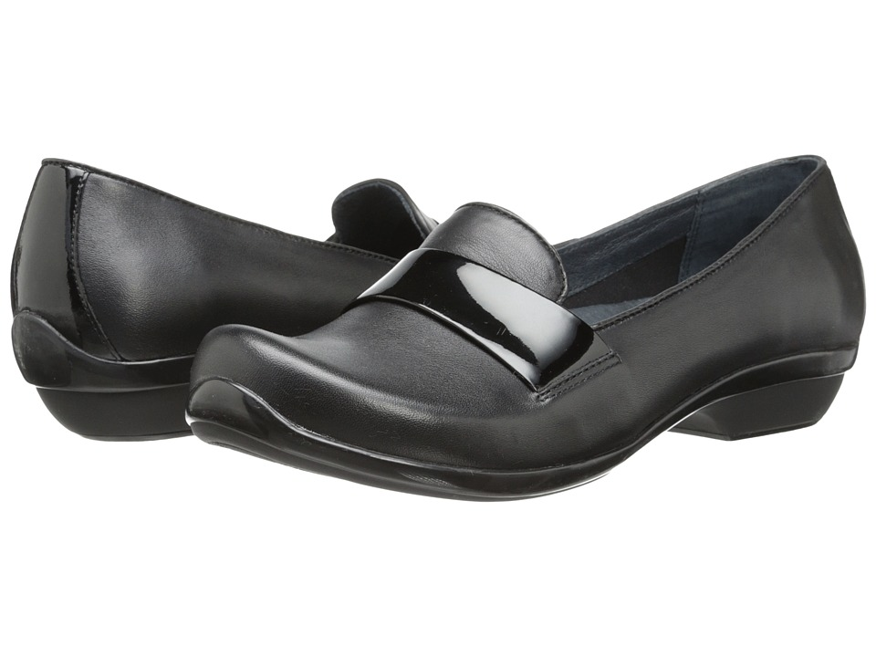 Dansko - Oksana (Black Nappa Leather) Women's Slip on Shoes