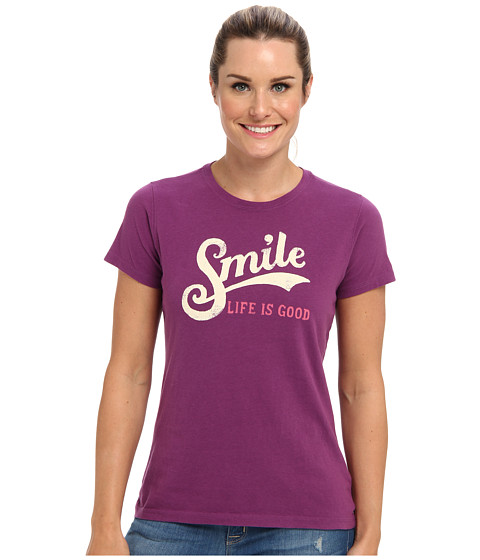 Life is good - LIG Creamy Tee (Perfect Plum) Women's Short Sleeve Pullover