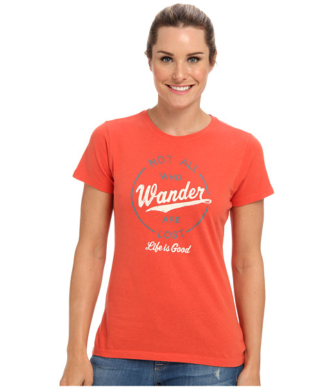 Life is good - LIG Creamy Tee (Chili Red) Women's Short Sleeve Pullover