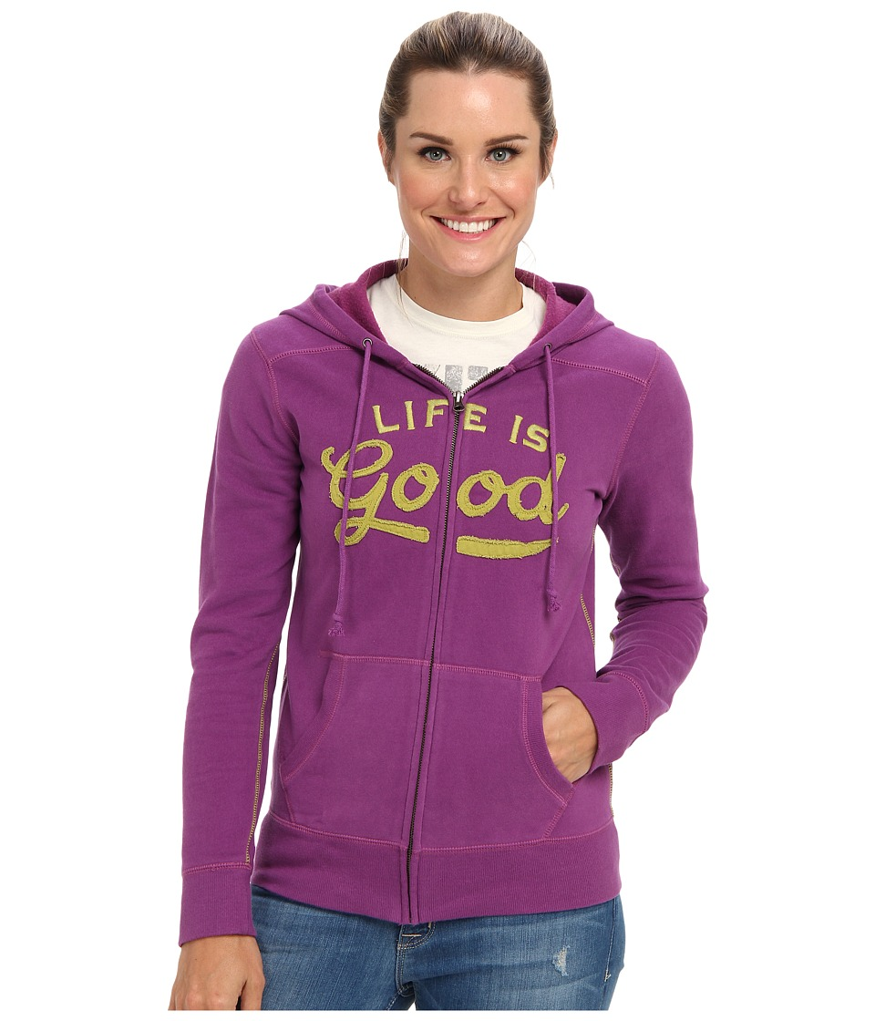 Life is good - All Good Zip Hoodie (Perfect Plum) Women