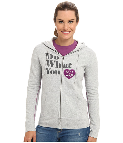 Life is good - All Good Zip Hoodie (Light Heather Gray) Women's Sweatshirt