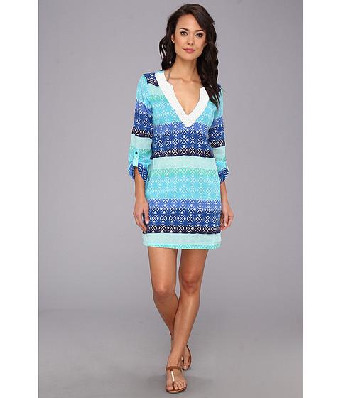 Echo Design - Surf Stripes Tunic (Turquoise) Women