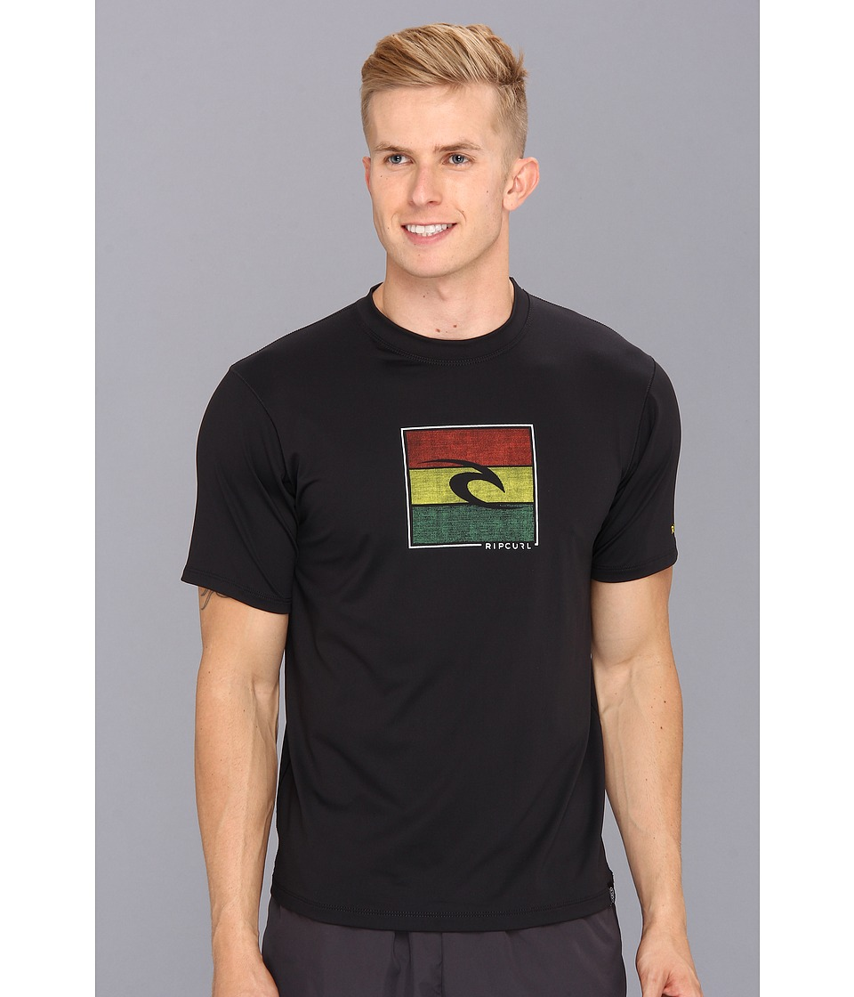 Rip Curl Watson S/S Surf Shirt Mens Swimwear (Black)