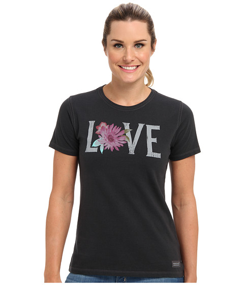 Life is good - Flower Love Crusher Tee (Night Black) Women