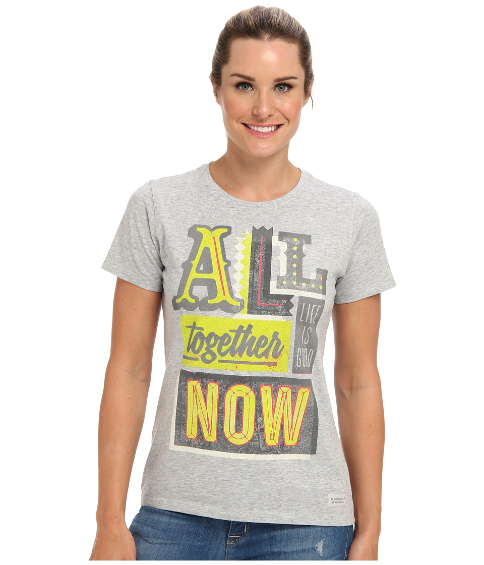 Life is good - All Together Marquee Crusher Tee (Light Heather Gray) Women
