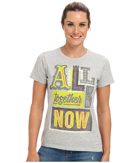 Life is good - All Together Marquee Crusher Tee (Light Heather Gray) Women's T Shirt