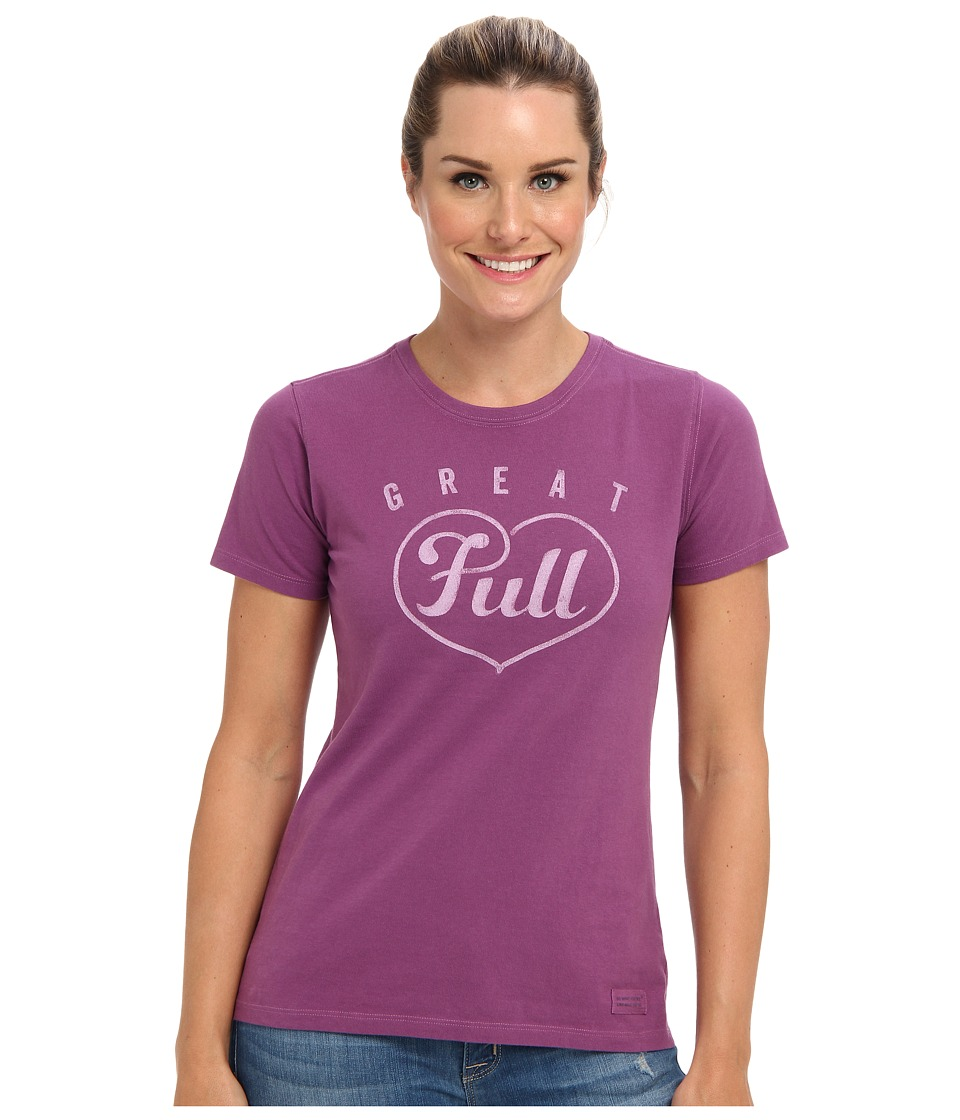 Life is good - Full Heart Crusher Tee (Perfect Plum) Women
