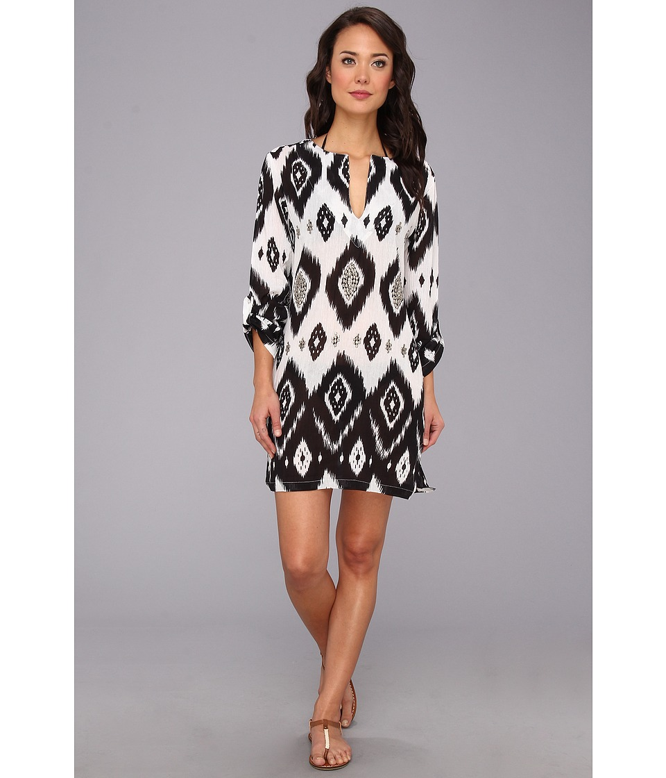 Echo Design - Island Ikat Sequined Tunic (Black) Women