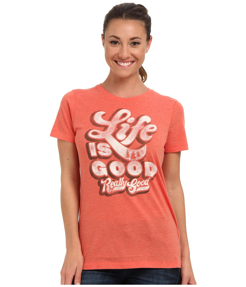 Life is good - Cool Tee (Chili Red 2) Women's Short Sleeve Pullover