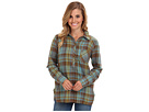 Life is good L/S Plaid Popover (Turquoise Blue)