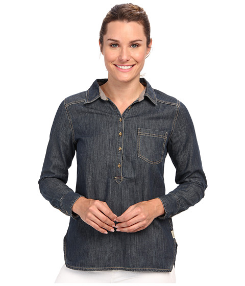 Life is good - L/S Vintage Denim Popover (Indigo) Women