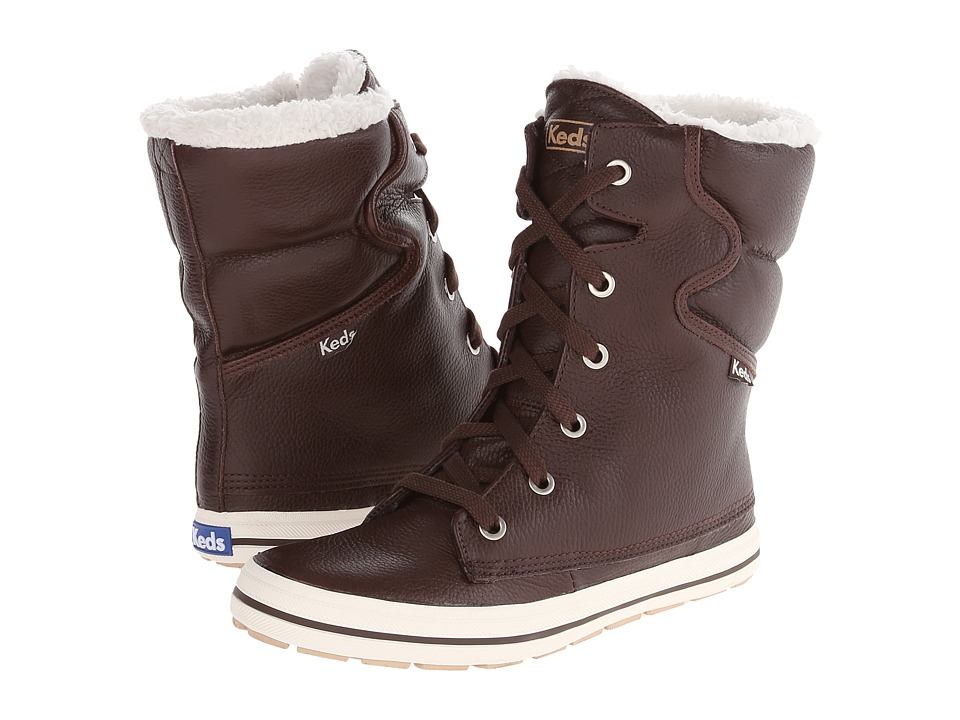 Keds Droplet Tumbled Leather (Java Brown) Women