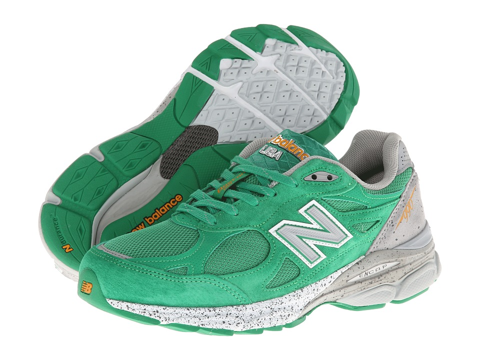 New Balance - M990v3 (Green/Grey) Men's Running Shoes