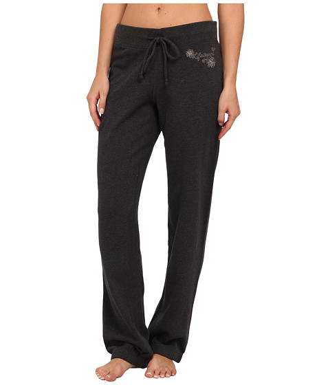 Life is good - French Terry Pants (Night Black) Women's Casual Pants