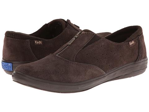 Keds - Pacey Zip Suede (Brown) Women
