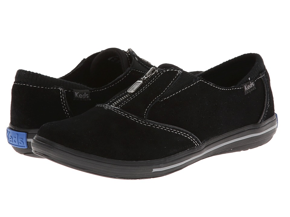 Keds Pacey Zip Suede (Black) Women