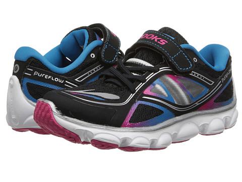 Brooks Kids - PureFlow 3 (Little Kid) (Black/Raspberry Sorbet/Blue Jewel) Girls Shoes