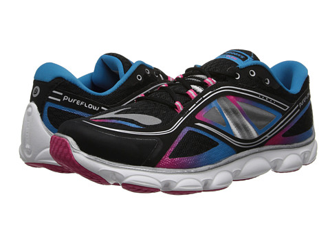 Brooks Kids - PureFlow 3 (Little Kid/Big Kid) (Black/Raspberry Sorbet/Blue Jewel) Girls Shoes