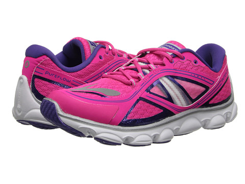 Brooks Kids - PureFlow 3 (Little Kid/Big Kid) (Pink Glow/Ultraviolet/White) Girls Shoes