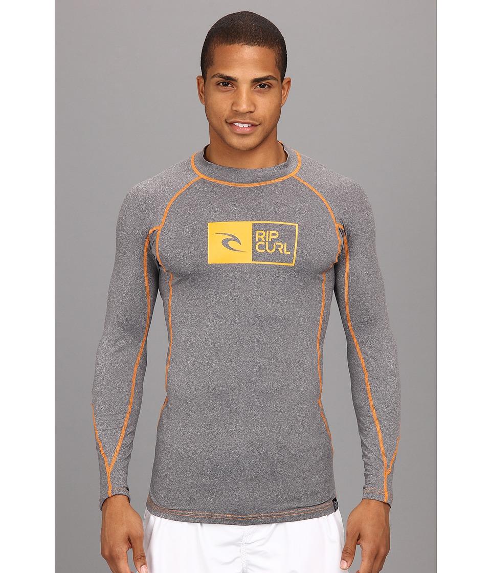 Rip Curl Ripawatu L/S Surf Shirt Mens Swimwear (Gray)