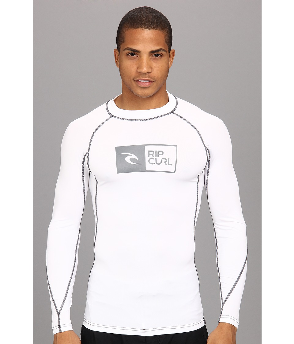 Rip Curl Ripawatu L/S Surf Shirt Mens Swimwear (White)