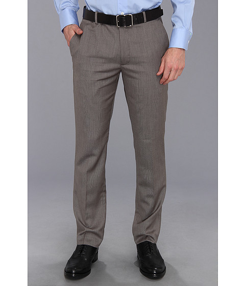 Perry Ellis - Slim Fit Textured Solid Suit Pant (Charcoal) Men's Casual Pants