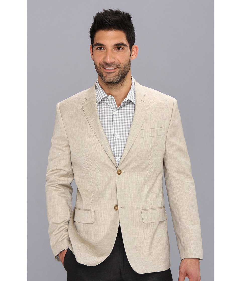 Perry Ellis - Textured Suit Jacket (Natural Linen) Men's Jacket