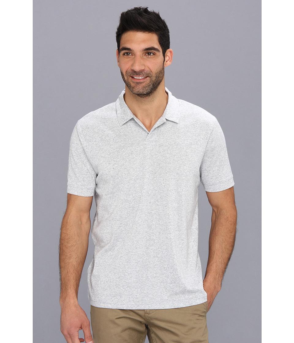 Perry Ellis - S/S Cotton Polyester Open Polo (Alloy) Men