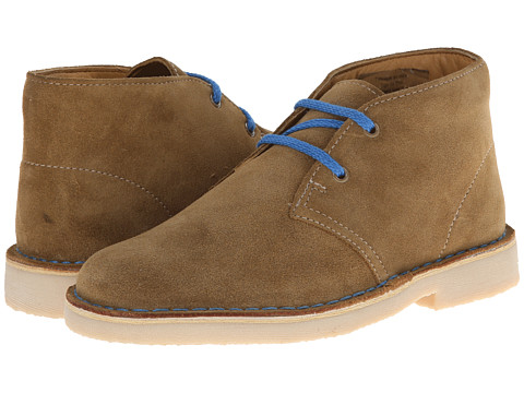 Clarks Kids - Desert Boot (Little Kid/Big Kid) (Tan Suede) Boys Shoes