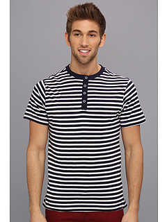 SALE! $17.99 - Save $14 on Request Jed Yarn Dye Stripe Tee (Navy) Apparel - 43.78% OFF $32.00