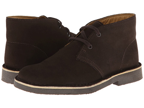 Clarks Kids - Desert Boot (Little Kid/Big Kid) (Dark Brown Suede) Boys Shoes