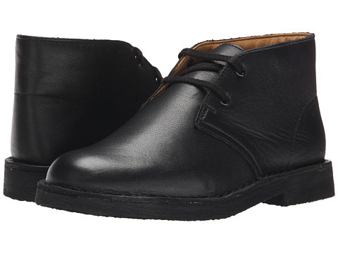 Clarks Kids - Desert Boot (Little Kid/Big Kid) (Black Leather) Boys Shoes